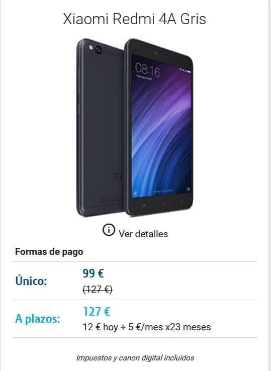 DIGI mobil Lorca Movil Xiaomi Redmi 4A Gris