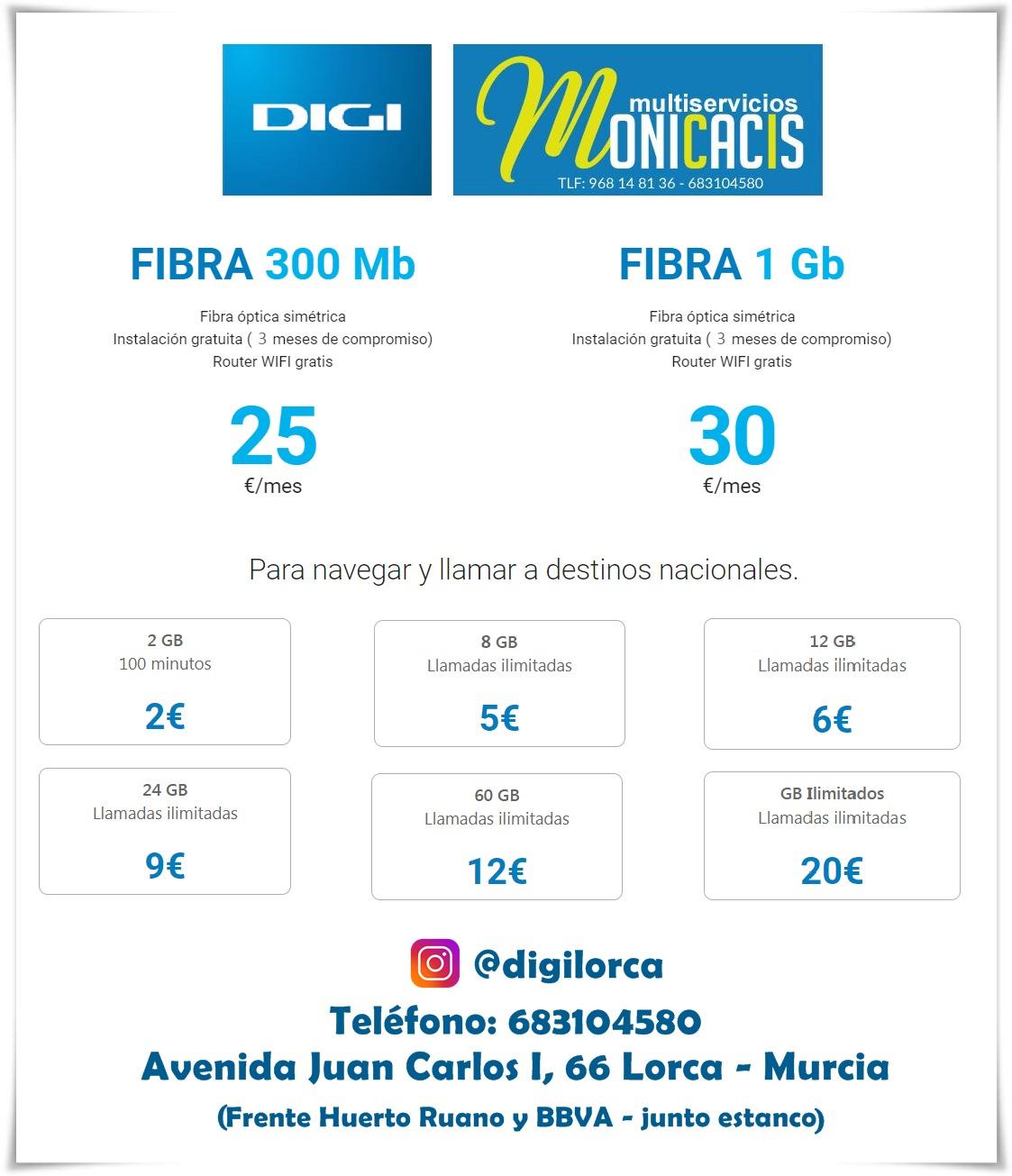 Tarifas Digi Mobil Lorca-Tarifas Otoño 2021